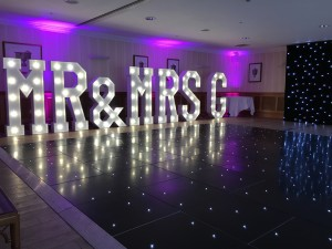 Hire a black LED dancefloor for weddings, corporate events or parties
