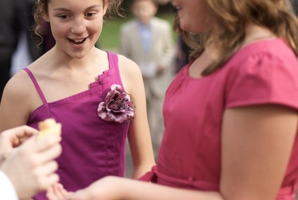 Sleight of hand magic at a Wedding